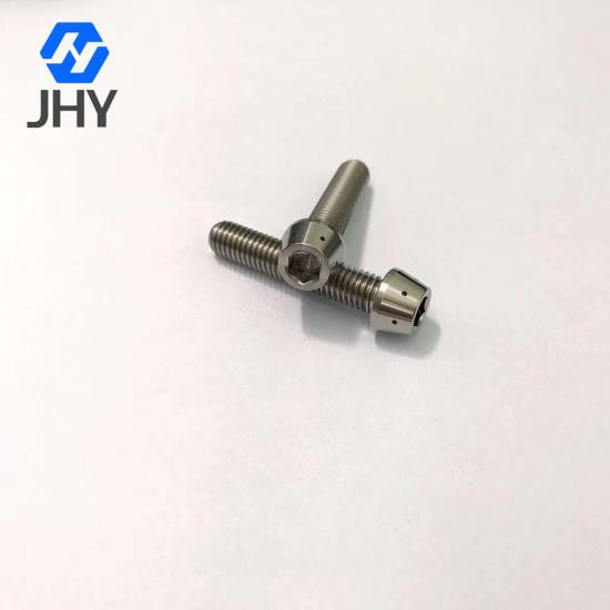Gr5 M8x40 DIN912tap Titanium taper head screws