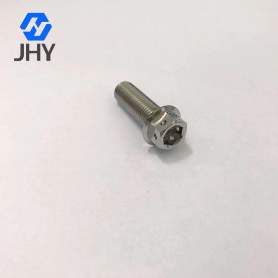 Gr5 M10x1.25x30 Titanium flange bolts