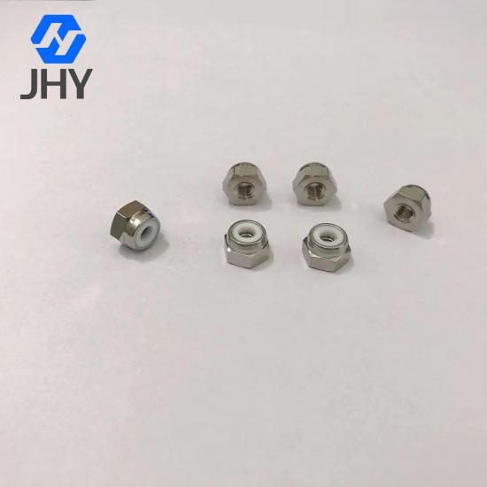Gr2 #8-32 Titanium nylon lock nuts