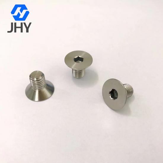 Gr2 M10x16 DIN7991 Titanium flat head screws
