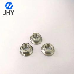 Gr5 M10*1.25 DIN6923 Titanium flange nuts