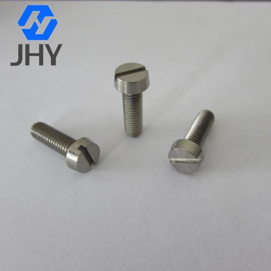DIN84 Titanium slotted cheese head screws