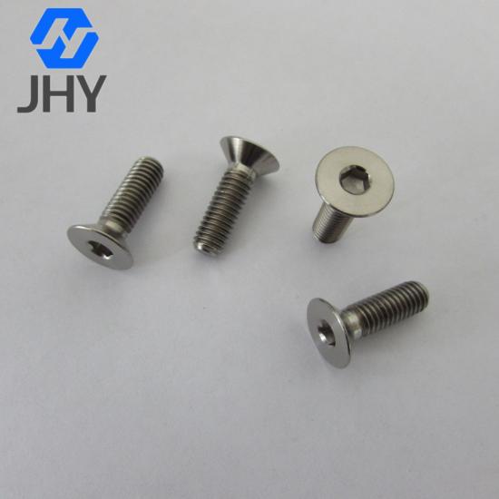 Gr2 DIN7991 Hot punching titanium flat head screws