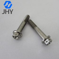 Gr5 Titanium flange bolts for bicycle