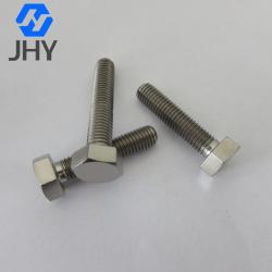 Gr2 DIN933 Hot forging titanium hex bolts