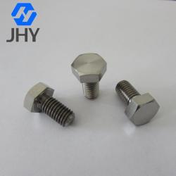 Gr5 DIN933 CNC Titanium hex bolts M6x15