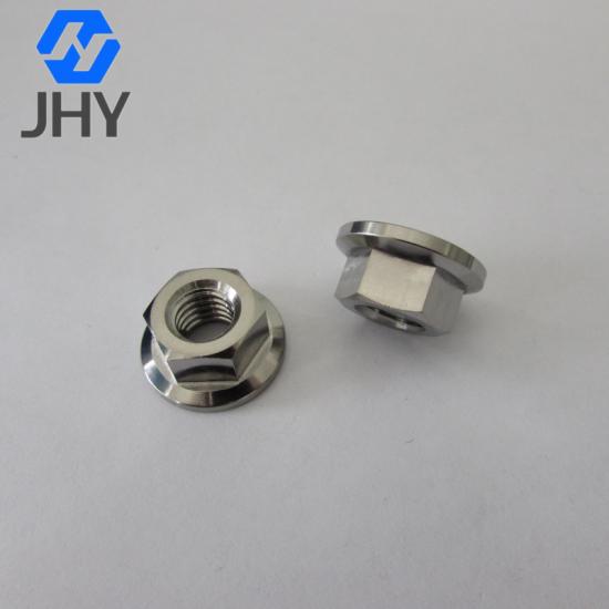 Gr5 DIN6923 Titanium flange nuts