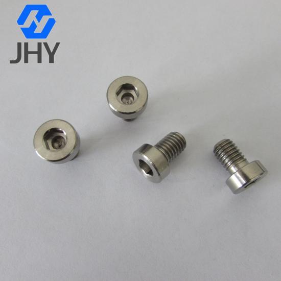 Titanium Hexagon Socket Thin Head Cap Screws with Pilot Recess