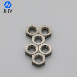 Titanium Chamfered Hexagon Thin Nuts