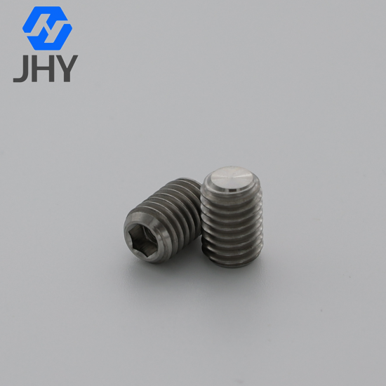 Titanium Hexagon Socket Set Screws with Flat Point