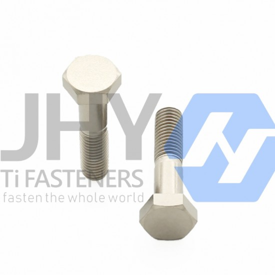 Titanium Hexagon Head Bolts - Half Thread - Product Grade A and B