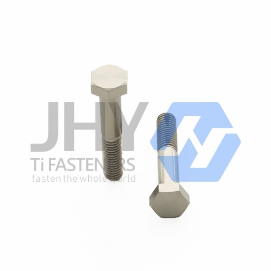 Titanium Hexagon Head Bolts - Strength Shank - Half Thread