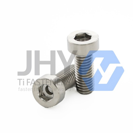 Titanium Hexagon Socket Thin Head Cap Screws with Pilot Recess