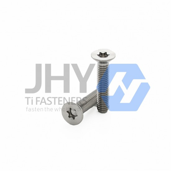 Titanium Hexalobular Socket Countersunk Head Screws