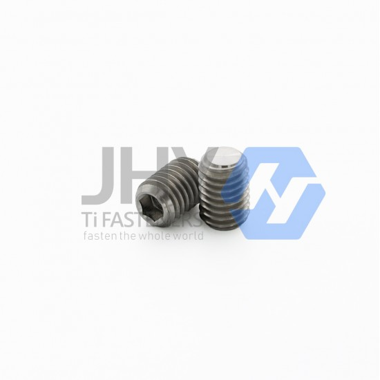 Titanium Hexagon Socket Set Screws with Flat Point